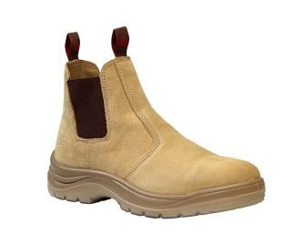 KingGee Flinders Elastic Gusset Safety Boot Sand Suede