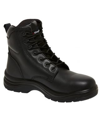 KingGee Cook 180mm (7 Inch) Lace up Boot - Black