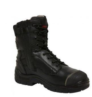 KingGee Phoenix 200mm (8 Inch) Side Zip Boot - Black