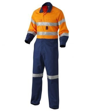 KingGee Hi-Vis Reflective Spliced Combination Drill Overall - 'Hoop' Pattern