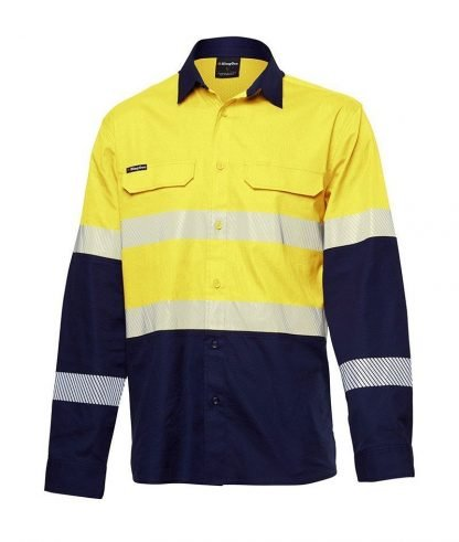 KingGee Workcool Pro Stretch Ripstop Shirt L/S Taped