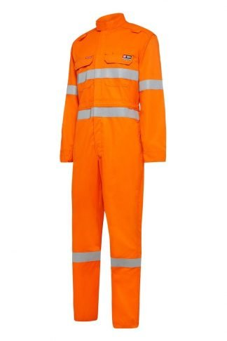Hard Yakka Shieldtec Fire Retardant Lightweight Hi-Visibility Coverall With Fire retardant Tape