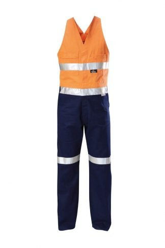 Hard Yakka Foundations Hi-Visibility Drill Two Tone Action Back  Coverall With Tape