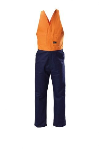 Hard Yakka Foundations Hi-Visibility Drill Two Tone Action Back  Coverall