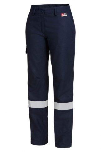 Hard Yakka Shieldtec Fire Retardant Womens Flat Front Cargo  Pant With Tape