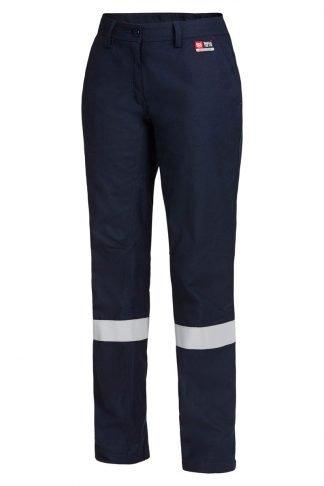 Hard Yakka Shieldtec Fire Retardant Womens Flat Front Pant With Tape