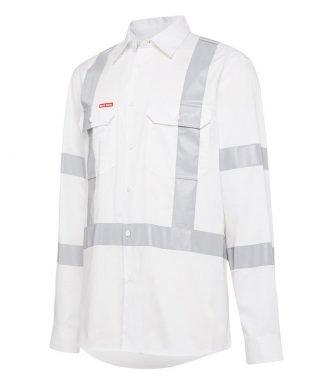 Hard Yakka Infrastructure Biomotion Long Sleeve Shirt with Tape