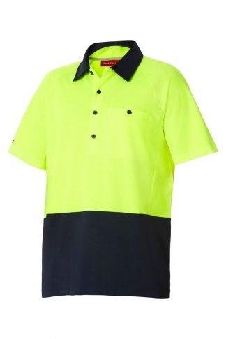 Hard Yakka Koolgear Ventilated Hi-Vis Two Tone Polo Short Sleeve