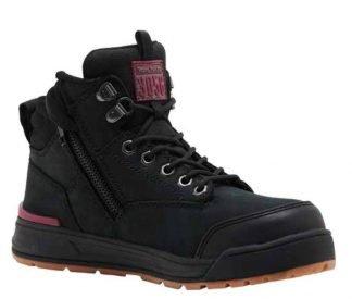 Hard Yakka Women's 3056 Side Zip 130mm (5 inch) Boot - Black